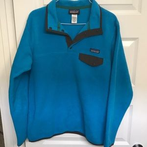 Patagonia Comfy Blue & Brown Pullover (Size M)